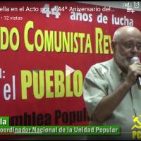 Gonzalo Abella integrante del Coordinador Nacional de la Unidad Popular-AP