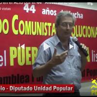 Eduardo Rubio, Diputado de la UP